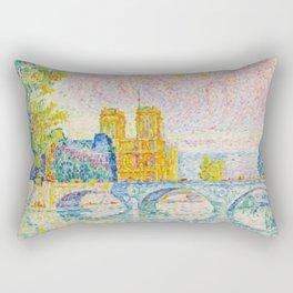 """Paul Signac """"La Cité. Paris"""" Rectangular Pillow"""