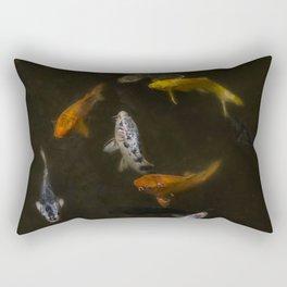 Koi Circle Rectangular Pillow
