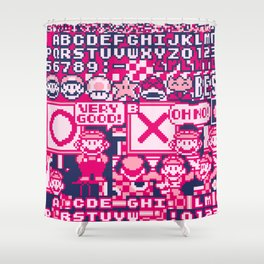 Glitched Mario Shower Curtain