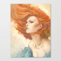 artgerm Canvas Prints featuring Pepper Breeze New by Artgerm™