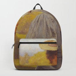 Hans Gude Painting -  Ung Dame Med Syriner 1897  | Reproduction | Norwegian Art Backpack