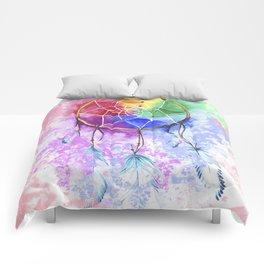"dreamcatcher ""cotton candy"" Comforters"