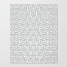 Icosahedron Soft Grey Canvas Print