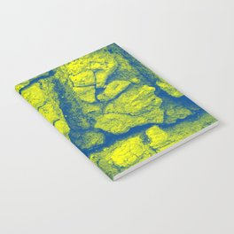 Abstract - in yellow & green Notebook
