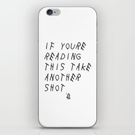 Too Late iPhone Skin
