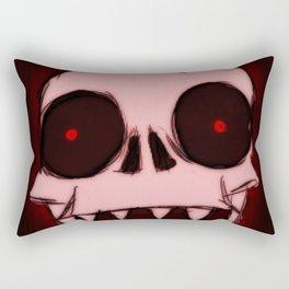 Screaming Wraith Skull Rectangular Pillow