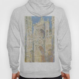Rouen Cathedral West Facade Sunlight by Claude Monet, 1894 Hoody