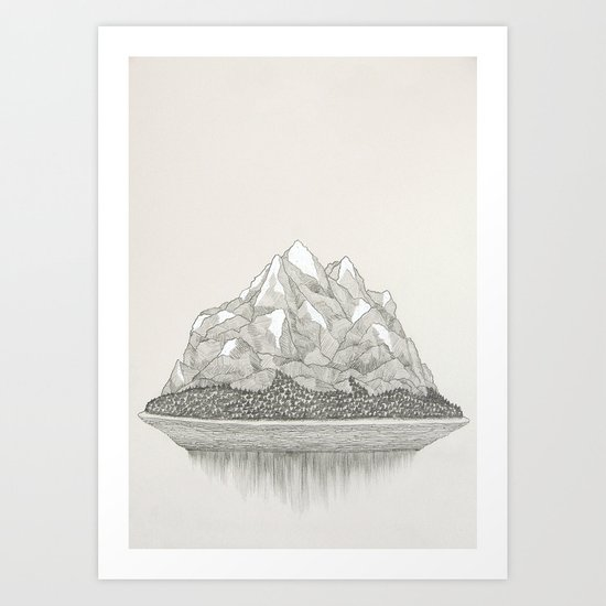 The Mountains and the Woods Art Print