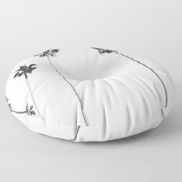 Black & White Palms Floor Pillow