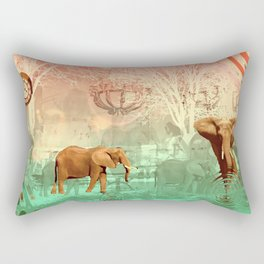 Elephants in the Ballroom Rectangular Pillow