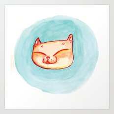 Smizing Kitten Art Print