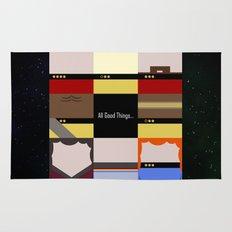 All Good Things - square Minimalist Star Trek TNG The Next Generation 1701 D  startrek  Trektangles Rug