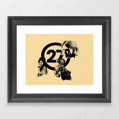 27 club Framed Art Print
