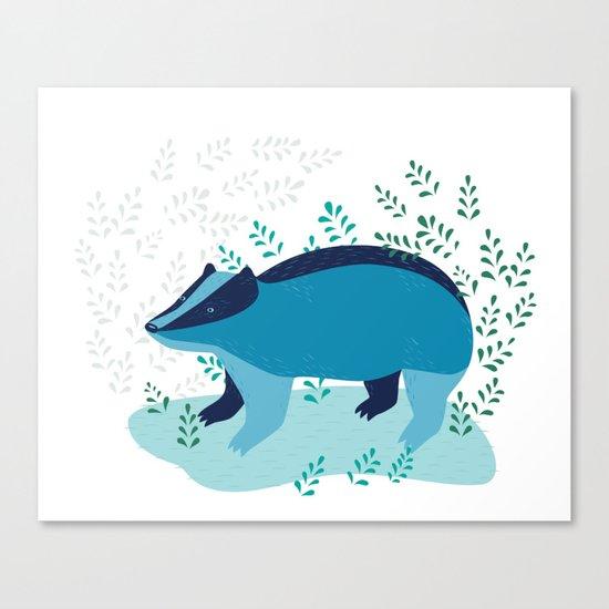 Blue Badger Canvas Print