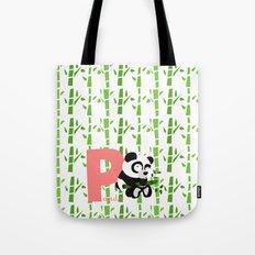 p for panda Tote Bag
