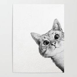 sneaky cat Poster