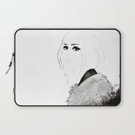 Watercolour Fashion Illustration Titled Wild Child Laptop Sleeve