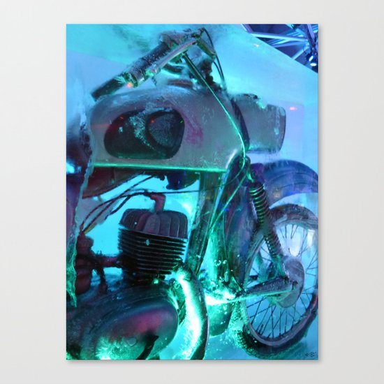 Ice Motorbike 1 Canvas Print