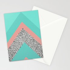 90s Chevron Stationery Cards
