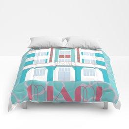 Miami Landmarks - Hotel Webster Comforters