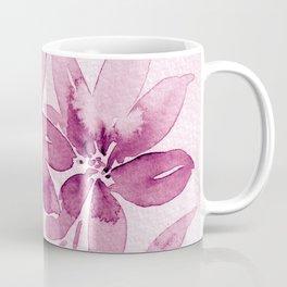 Mauve Floral Watercolor Art Coffee Mug