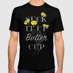 Suck it Up Buttercup Black MEDIUM Mens Fitted Tee