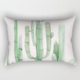 Three Amigos Pink + Green Rectangular Pillow