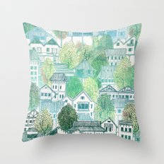 Cambodian Village Throw Pillow
