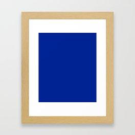 Imperial Blue - solid color Framed Art Print