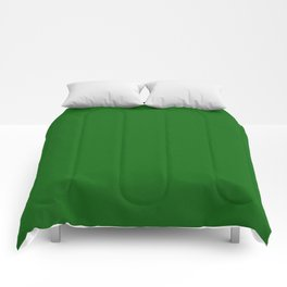 Dark Green Pixel Dust Comforters
