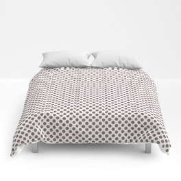 Twilight Mauve Polka Dots Comforters