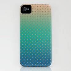 Polka Plankton Blue iPhone (4, 4s) Slim Case