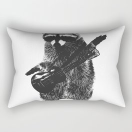 Raccoon wielding ukulele Rectangular Pillow