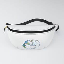 Unicorn Muscles - Funny Fitness Gym Rainbow Gift Fanny Pack