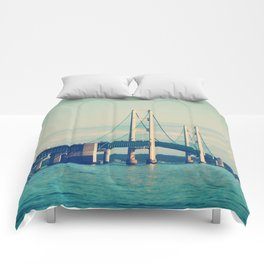 Mackinac Bridge Comforters