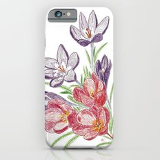 Purple and red dry flowers iPhone 6s Slim Case