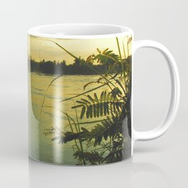 Evening Sunset on the Mekong River Landscape Coffee Mug