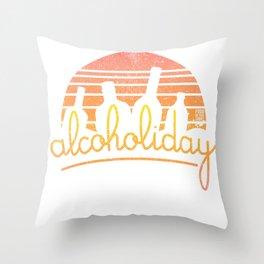 Alcoholiday Throw Pillow