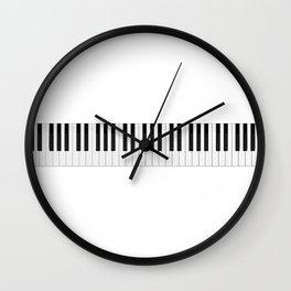 Piano / Keyboard Keys Wall Clock