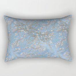 3d, wallpaper, background in Van Gogh style, Almond Blossoms, seamless Rectangular Pillow