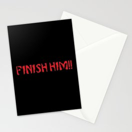 Finish Him!! Gaming Quote Stationery Cards