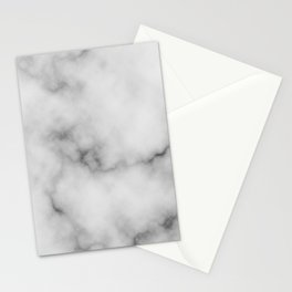 White Marble Pattern Stationery Cards