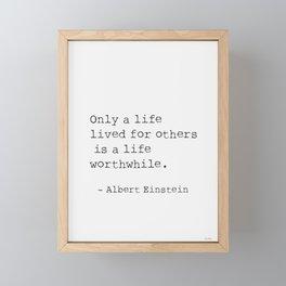 Albert Einstein quote 5 Framed Mini Art Print