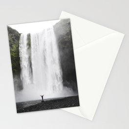 Big Waterfall Landscape Stationery Cards