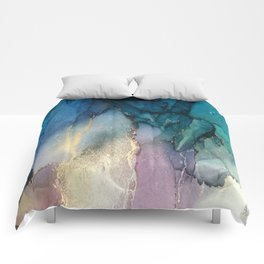 Pour your art out in sea green Comforters