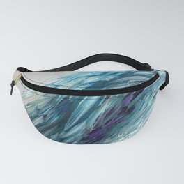 Once Upon An Angel Wing-blue Fanny Pack