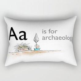 A is for Archaeology Rectangular Pillow