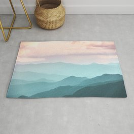 Smoky Mountain National Park Sunset Layers II - Nature Photography Rug