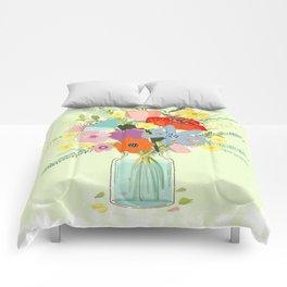 Bringing Summer Wildflowers Inside Comforters