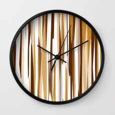 Golden Wood Grain Wall Clock